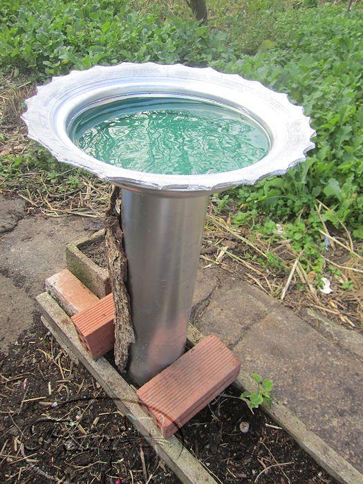 manualidades puri diaz bebedero fuente para pajaros de jardin