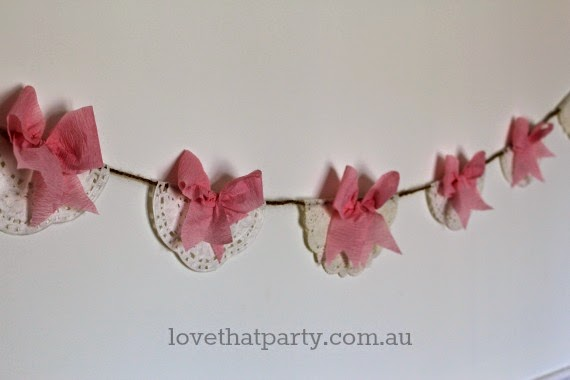 You can make your own party decorations ona shoe string, that still look beautiful! Love That Party. www.lovethatparty.com.au