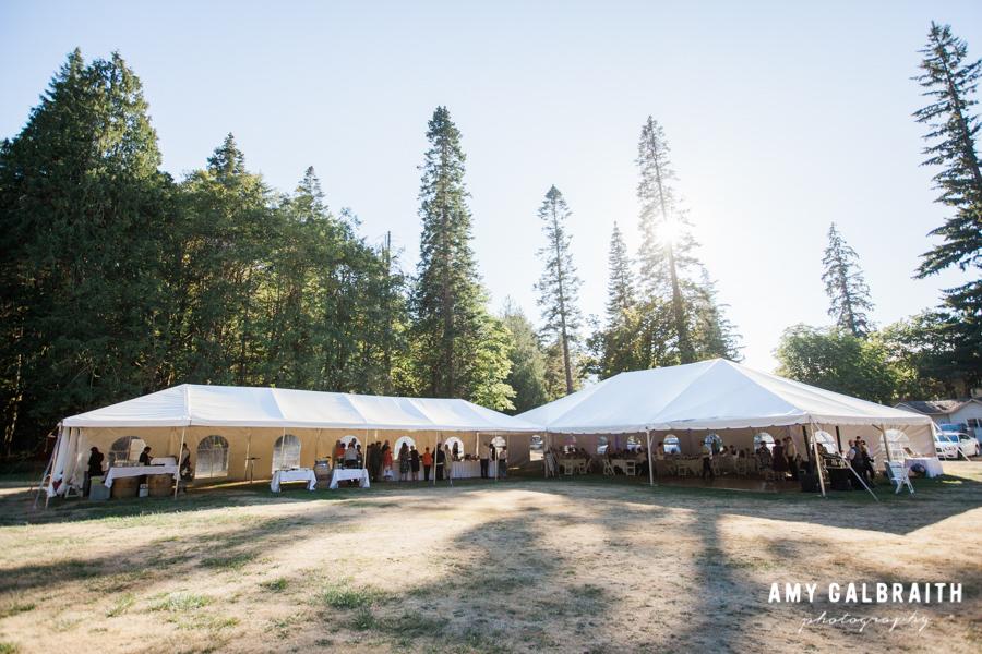 tent wedding at lake crescent lodge