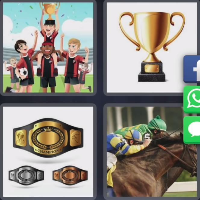 4 Fotos 1 Palabra Copa Equipo Futbol Cinturon Champion Caballo