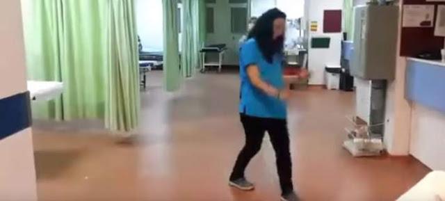 Τρικούβερτο γλέντι μέσα στα επείγοντα νοσοκομείου (βίντεο)