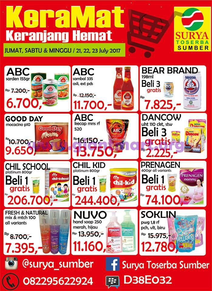 Katalog Promo JSM Weekend Surya Toserba 21 - 23 Juli 2017