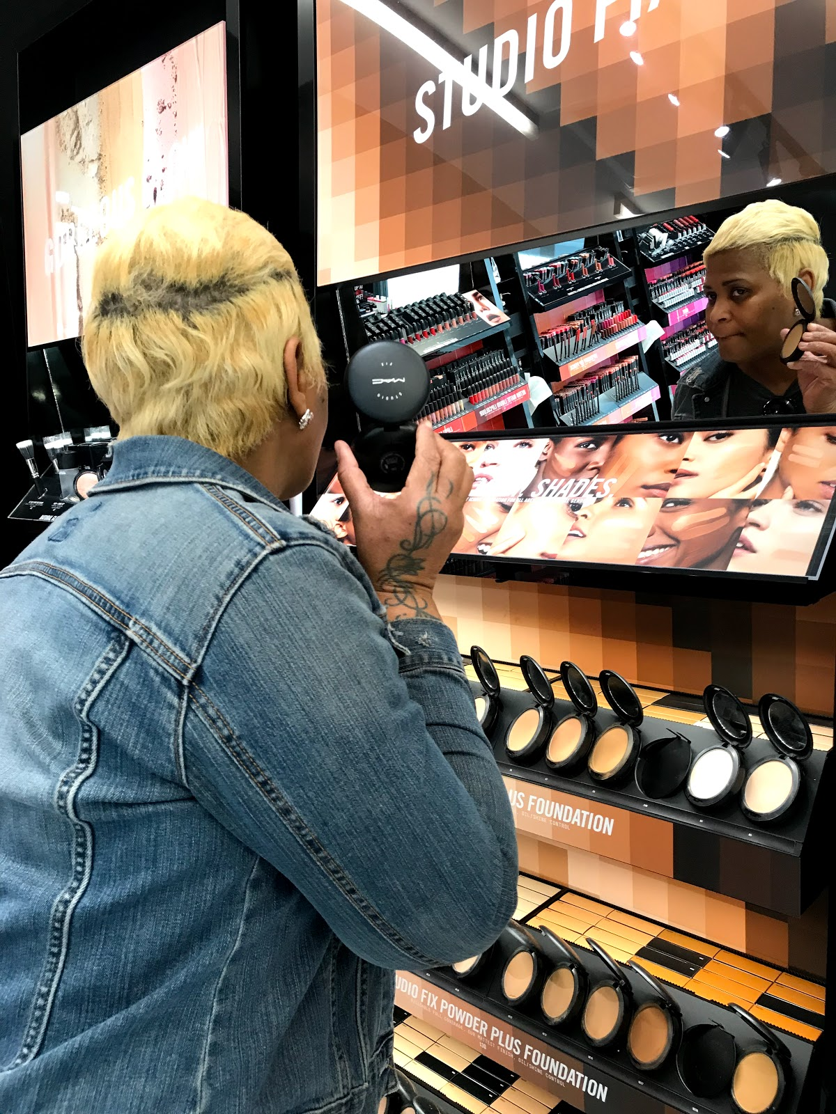 Image: Woman trying on makeup and sharing her point of view on the subjecToday I tried Rhianna Fenty and Mac Studio Fix  Foundation. But the results weren't what I expected, and my experience left me feeling the pressure to take better care of my beauty needs.t.