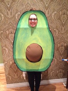 pregnant wife as an avocado pregnant Halloween costumes ideas