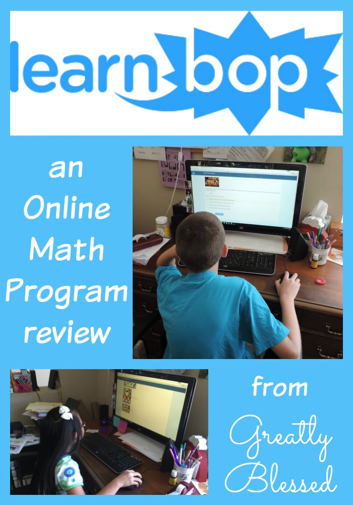 Greatly Blessed: LearnBop Online Math