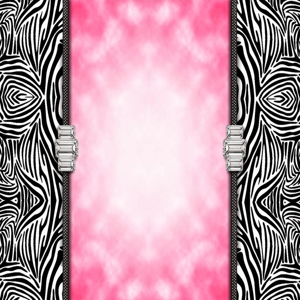 Pink And Zebra Print Border