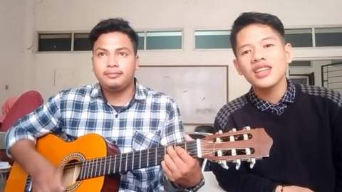Lirik Lagu Adek Jilbab Biru / Ungu dan Balasannya