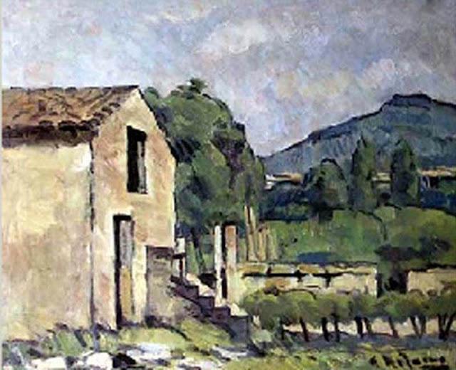 Alceu Ribeiro, Mallorca en Pintura, Masia de Mallorca, Mallorca Pintada, Paisajes de Mallorca, Paisajes de Alceu Ribeiro