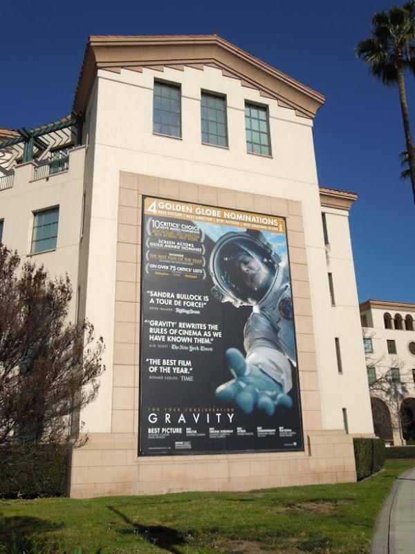 Gravity movie billboard