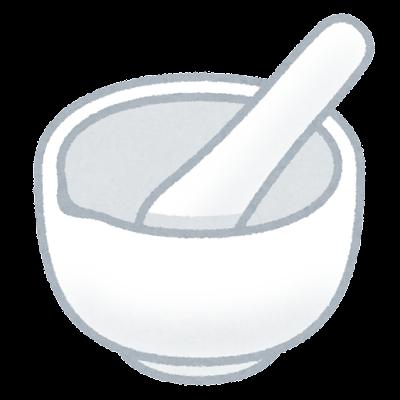 乳鉢のイラスト