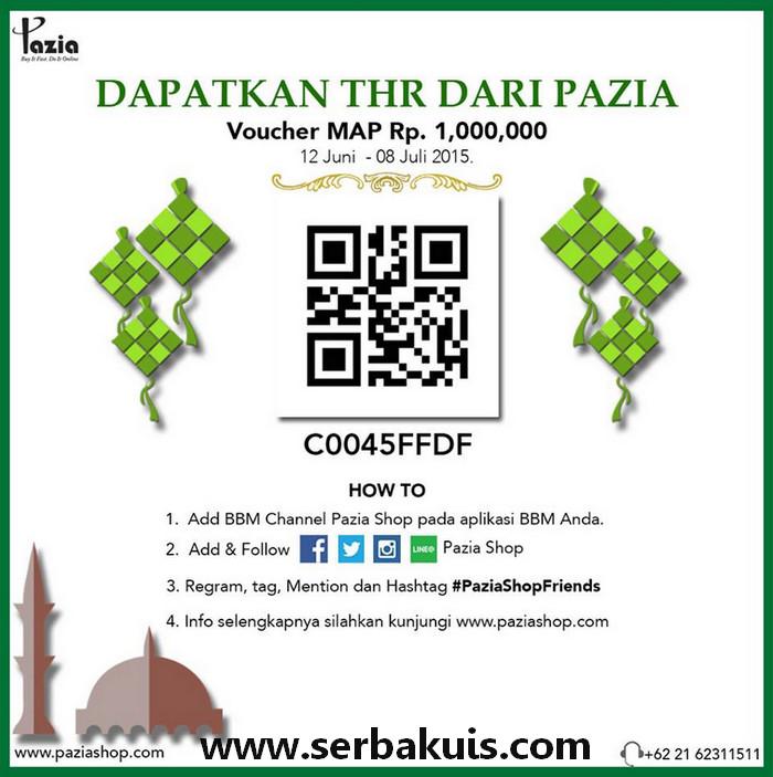 Kuis Regram Berhadiah THR Voucher MAP dari Paziashop