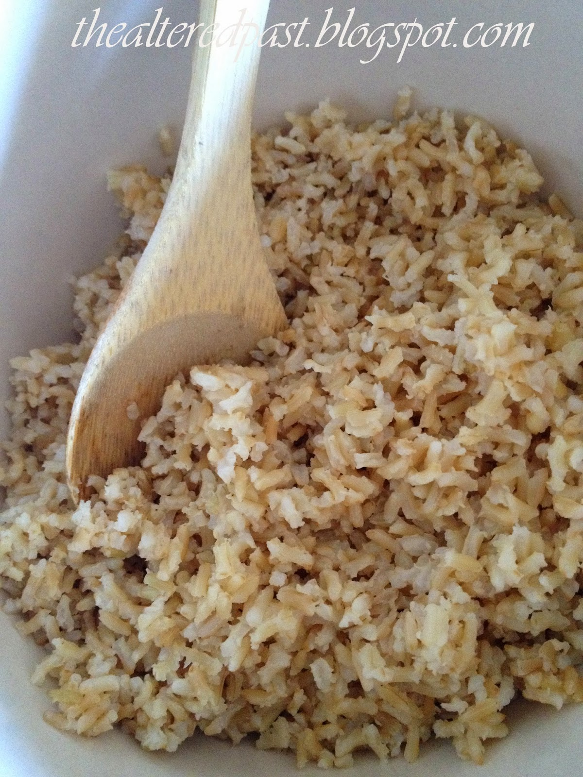 delicious brown rice salad recipe, the altered past blog