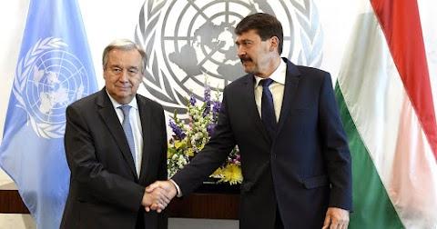Áder János az ENSZ-főtitkárral találkozik New Yorkban