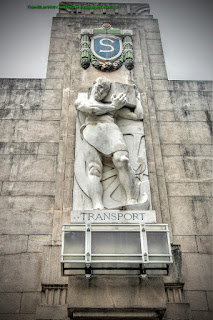 Transport marble sculpture, Tanjong Pagar Raiway Station, Singapore