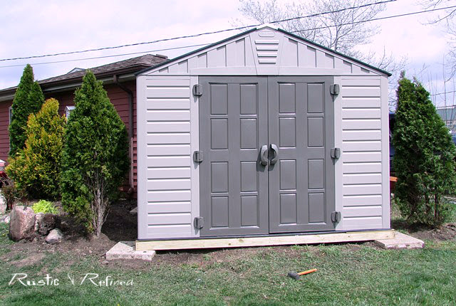 Backyard makeover with a new she shed on a budget