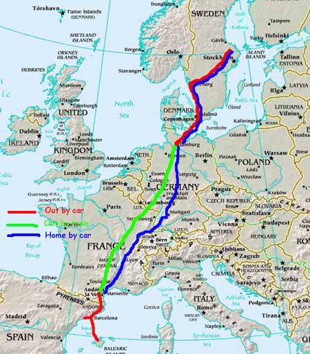 bila i europa karta Franska sydkusten och andra kuster.: Planering av sommarens  bila i europa karta