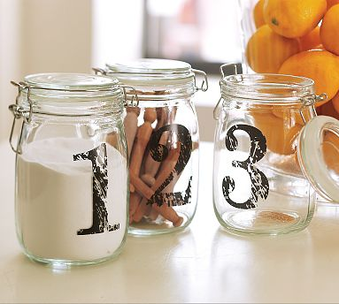 Two Men And A Little Farm Mason Jars With Numbers