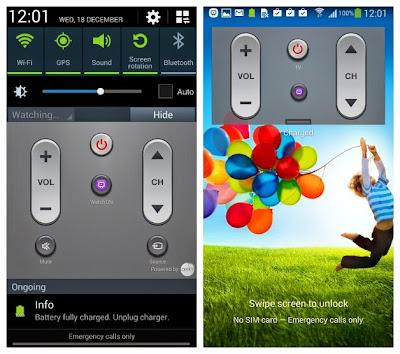 Samsung Galaxy S4 Televizyon Kumandası WatchON