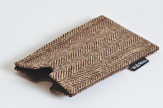 discarded fabric phone sleeve from wild weka designs