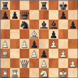 Partida de ajedrez Romà Bordell vs Lev Polugaevsky, Uppsala 1956, posición después de 22.Ad5!