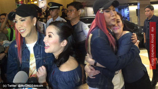 Look: Vice Ganda and Kris Aquino, reunited to watch The Super Parental Guardians