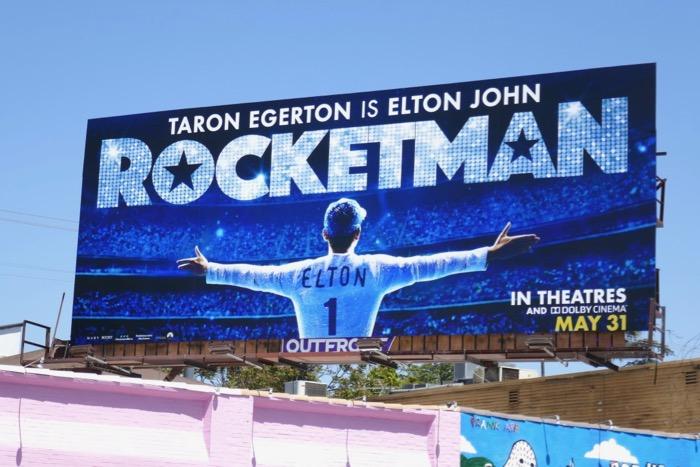 Rocketman movie billboard