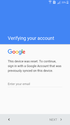 frp, verify google account