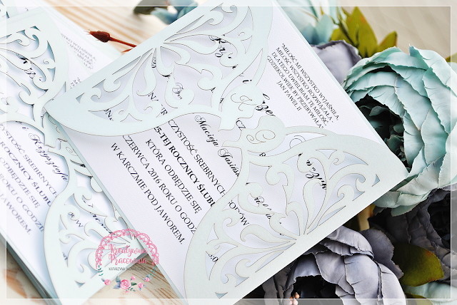 ażurowe zaproszenia ślubne