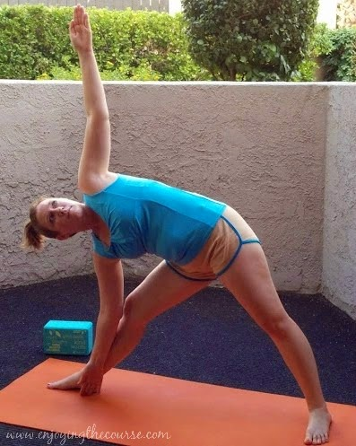 enjoying the course wednesday's workout yoga flow for