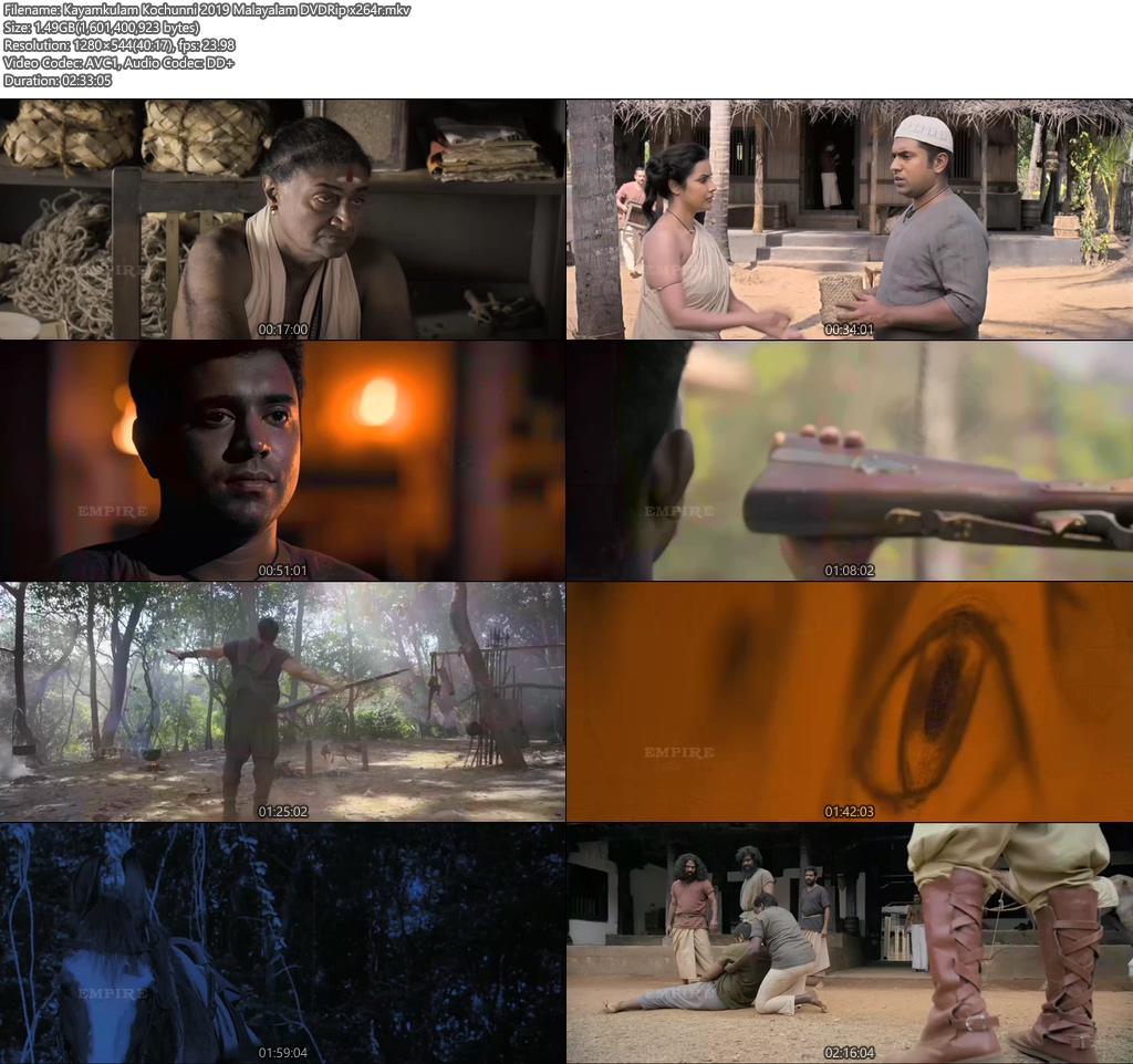 Kayamkulam Kochunni 2019 Malayalam DVDRip x264 | 480p 300MB | 100MB HEVC Screenshot