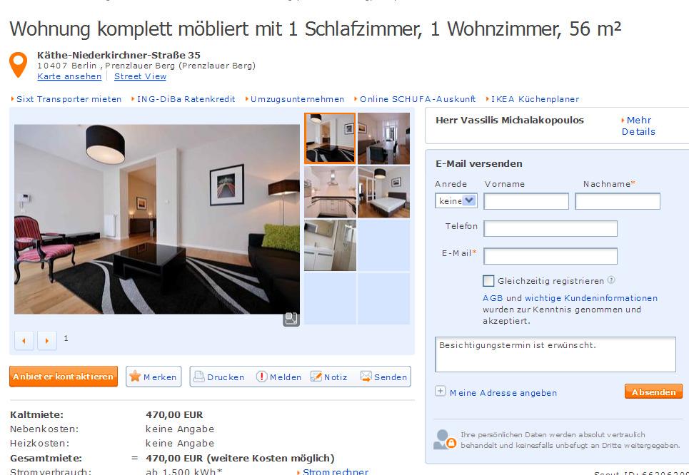 wohnung komplett m bliert mit 1 schlafzimmer 1 wohnzimmer 56 m. Black Bedroom Furniture Sets. Home Design Ideas