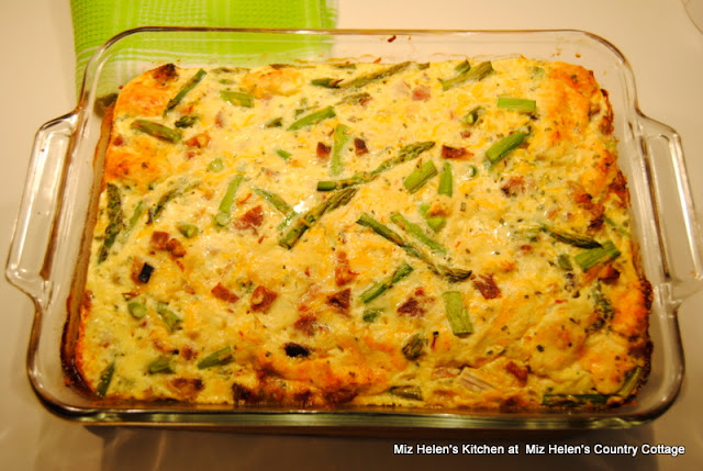Asparagus Brunch Casserole at Miz Helen's Country Cottage