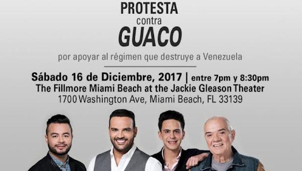 Se convoca a un escrache contra GUACO el próximo domingo 16 en Miami