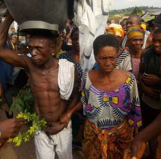 'Konji Na Bastard' Community disgrace old woman caught having sex with lover #CAPgist