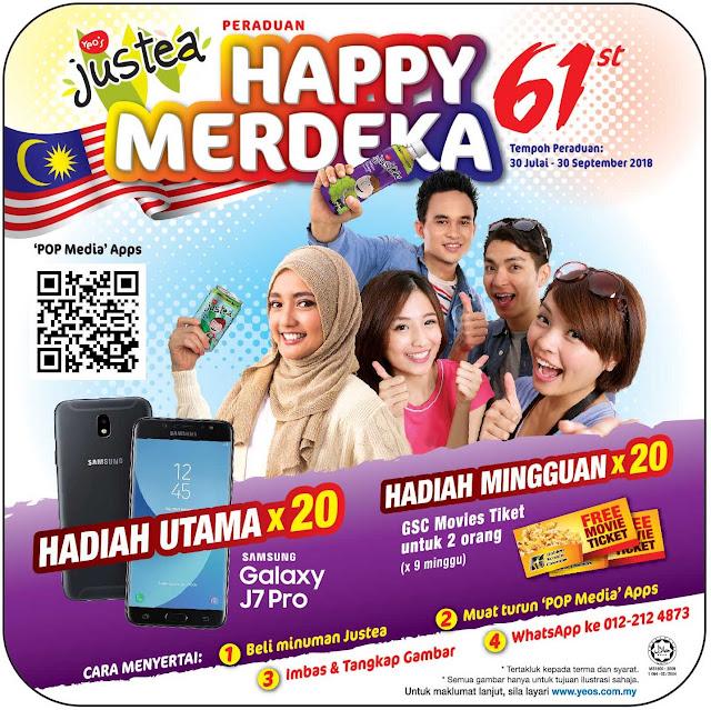Peraduan Justea Happy 61st Merdeka - Hadiah Menarik Menanti Anda!