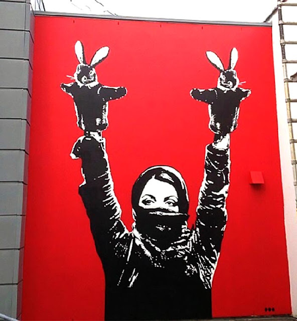 """Protester"", Street Art By Dot Dot Dot in Stavanger, Norway For Nuart 2013."