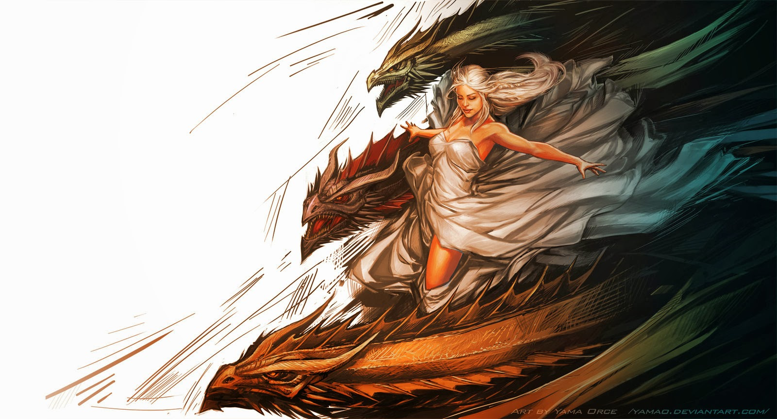 a literary labour of love review a song of ice and fire a dance daenerys drogon viserion and rhaegal art by yama orce