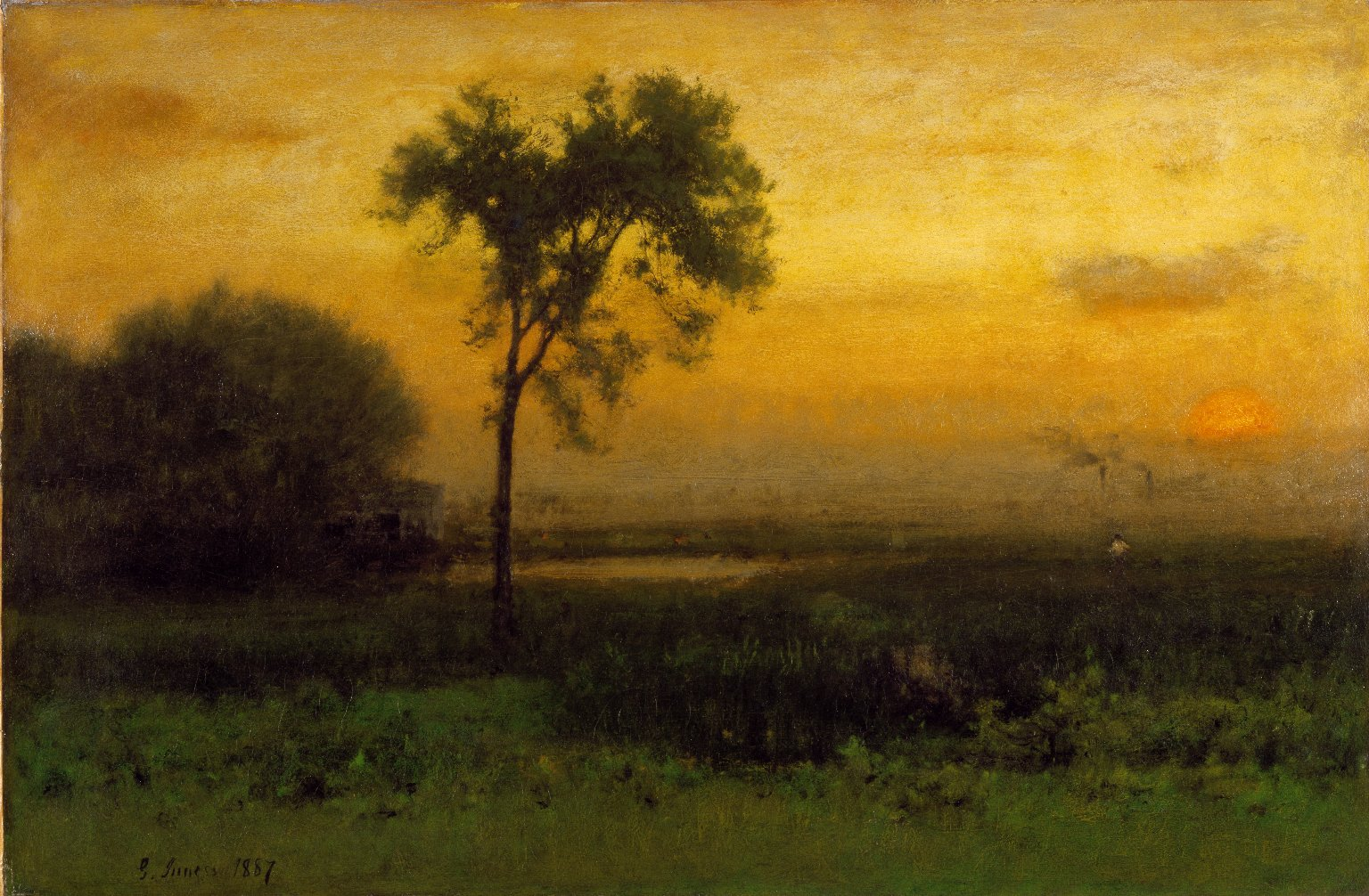 george inness early moonrise - HD 1536×1006