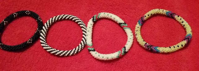 Sashka Co Roll On Glass Bead Bracelets