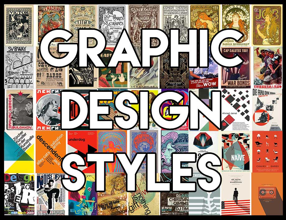graphic design styles | onlinedesignteacher
