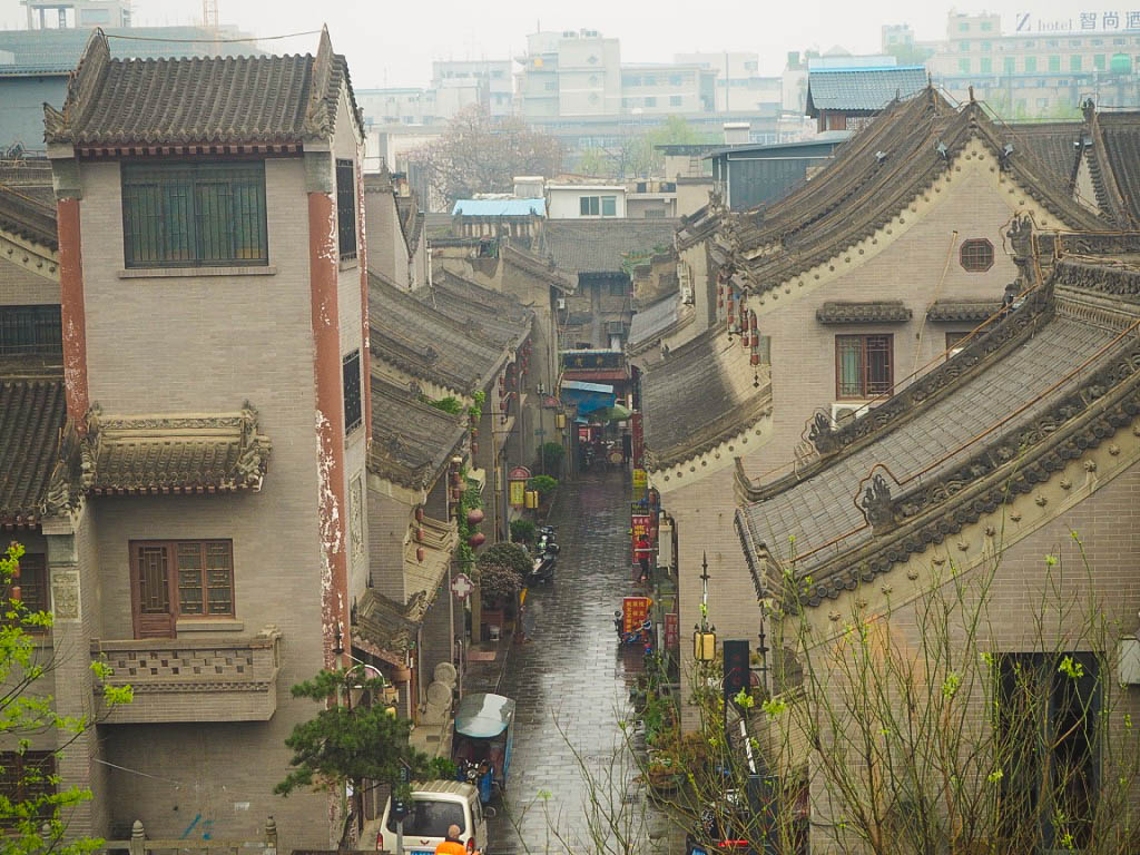 View from Xi'an City Walls in China