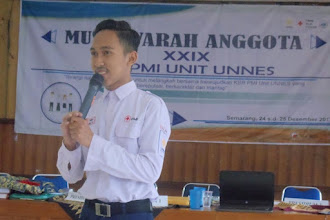 Afif Sa'Roni, Ketua pertama KSR PMI Unit UNNES