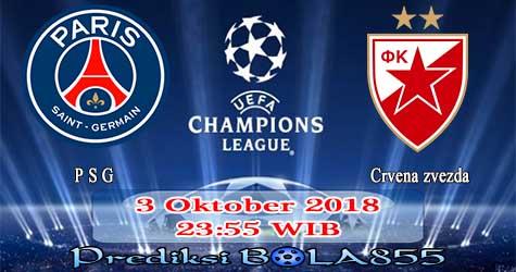 Prediksi Bola855 Paris Saint Germain vs FK Crvena zvezda 3 Oktober 2018