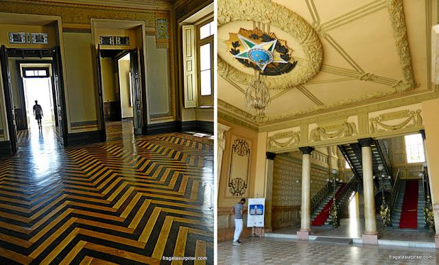 Detalhes da decoração do Palácio Rio Branco, Salvador