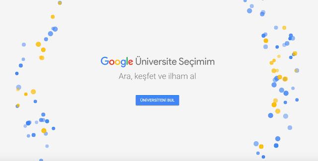 Google Üniversite Seçimim üniversite adaylarının başvuru rehberi olmaya devam ediyor