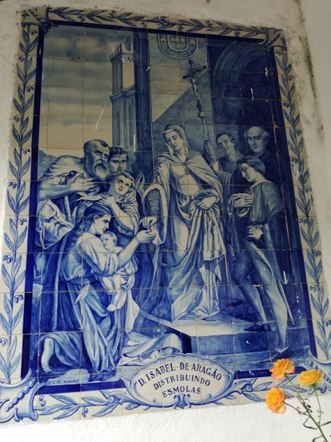 Dona Isabel de Aragão distribuindo esmolas