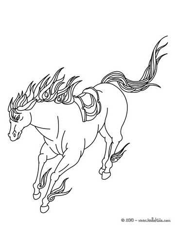 alphabet coloring sheets: Horse Coloring Pages Animal Lovers