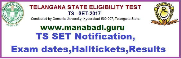 TS SET Notification,Exam dates,Halltickets,Syllubus,Exampattern,Results