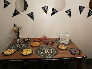 déco de table 30 ans
