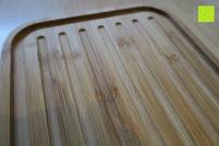 Rillen: Brotkasten aus Bambusfaser mit Deckel aus Bambus | 42 x 23 x 12 cm | Bewahren Sie Ihr Brot luftdicht und hygienisch auf